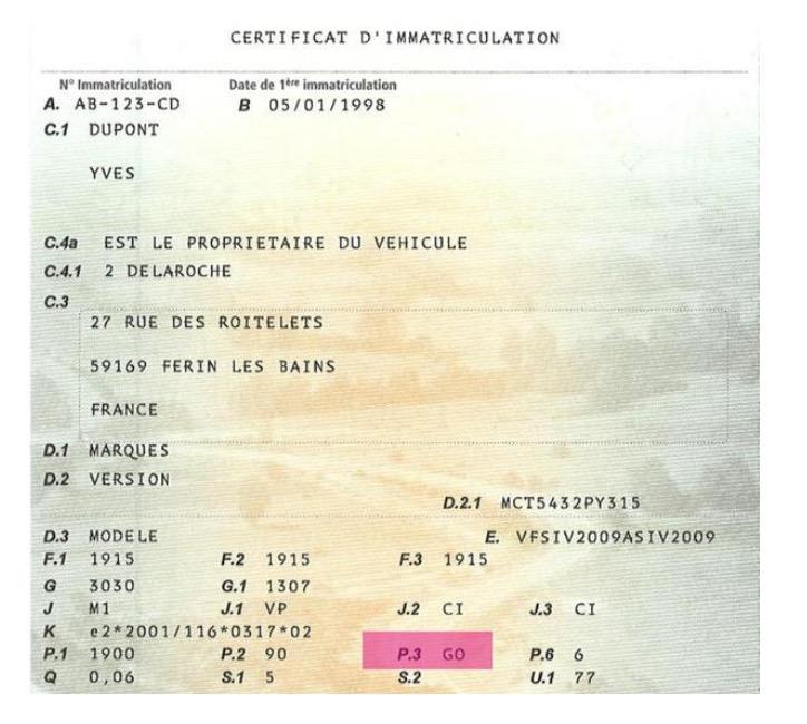 matricular un coche francés en España